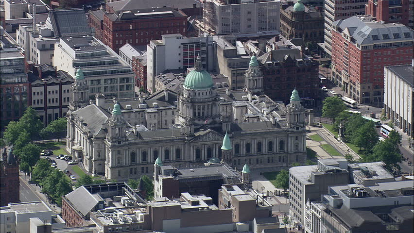 Belfast In Good, Patchy Light, City Hall | Shutterstock HD Video #23689018