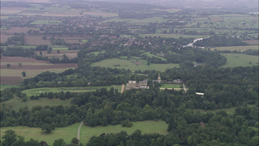 Overhead Passing Shot Of Clivedon House