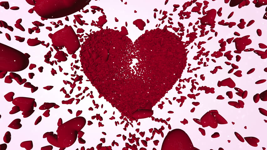 Thousands Red 3D Hearts | Shutterstock HD Video #23699575