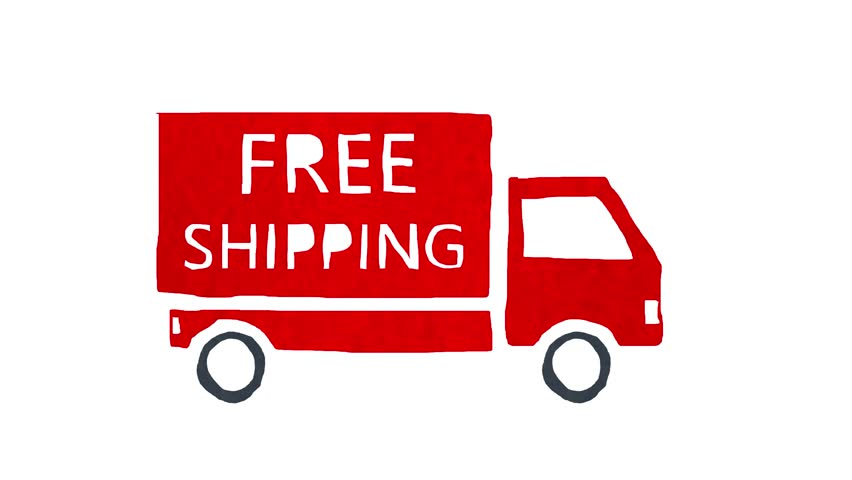 Truck with Free Shipping Written Stock Footage Video (100% Royalty-free)  23708635   Shutterstock
