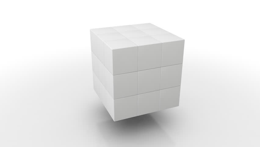 Moving Cubes, Symbolic for Teamwork, Leadership and the Saying Standing out from the crowd (3d rendering) | Shutterstock HD Video #23732134
