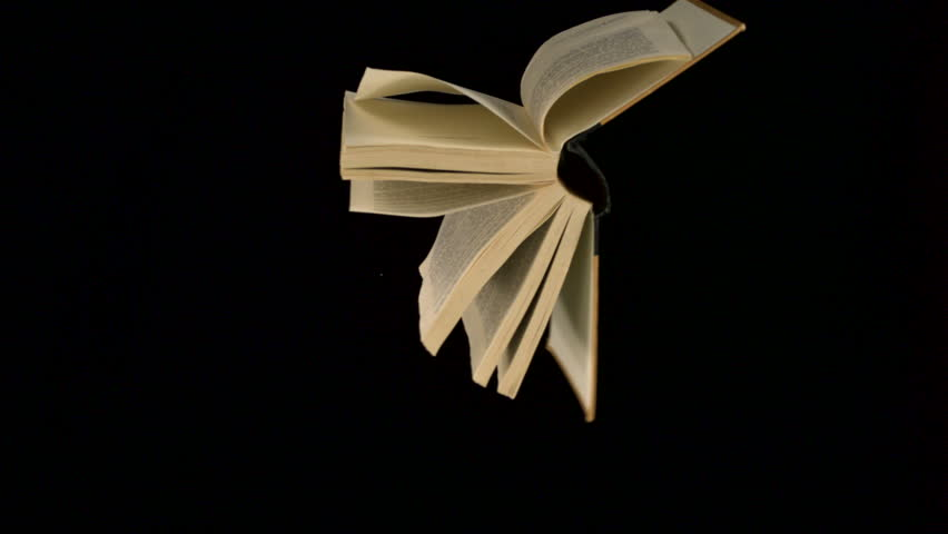 Book flying in the air shooting with high speed camera, phantom flex. | Shutterstock HD Video #2373659