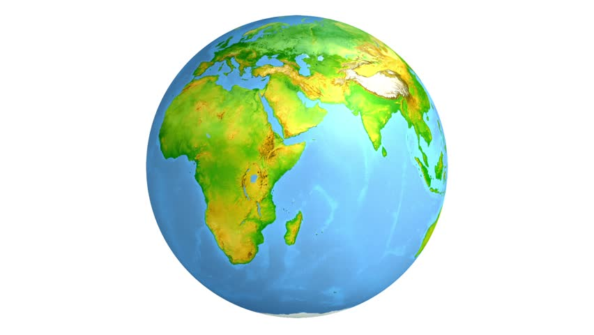 Earth Globe World Map Isolated Stock Footage Video 100 Royalty Free 23761558 Shutterstock