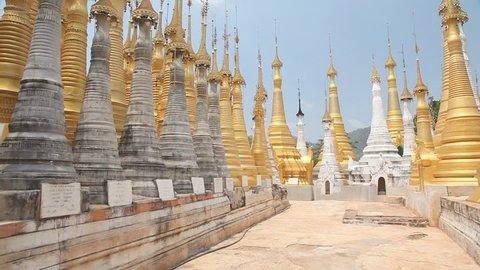 Pagoda Indein, Inle lake, Myanmar