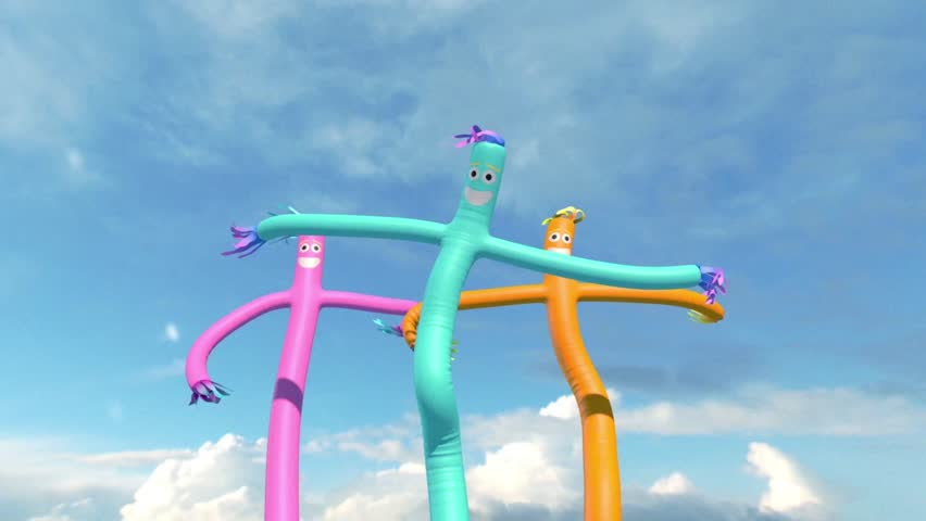 Wacky Waving Inflatable Tube Man 3D Sky Rendering