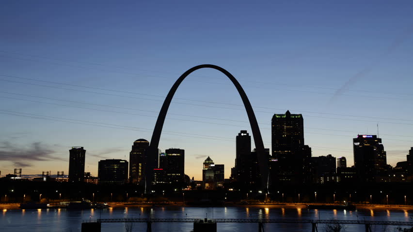 City of St. Louis Skyline, Missouri, USA