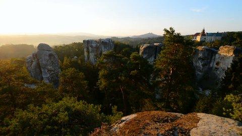 Hruba Skala castle, Bohemian Paradise region, Czech republic, Europe.