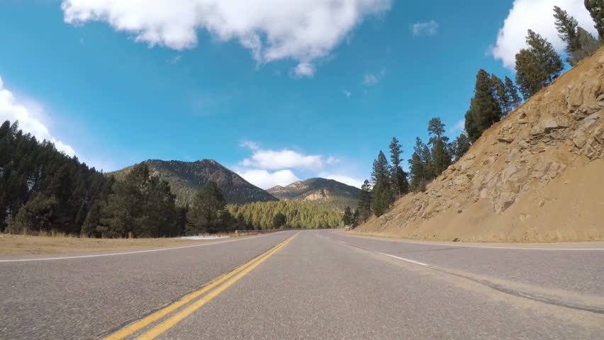 POV point of view - Driving through Pike National Forest in the Winter. | Shutterstock HD Video #23820541