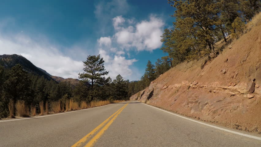 POV point of view - Driving through Pike National Forest in the Winter. | Shutterstock HD Video #23837743