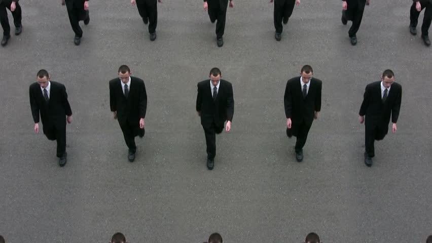 Cloned Businessmen (Loop). #23851234