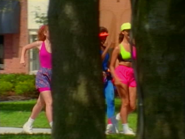 Group of female joggers