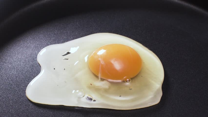 Video of egg being dropped on hot pan #23896972