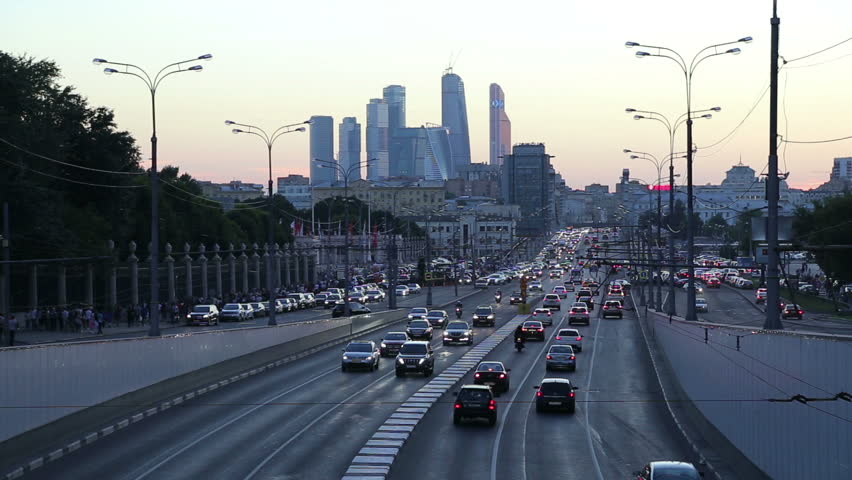 Traffic on the highway of big city (at night), Moscow, Russia       Shutterstock HD Video #23911537
