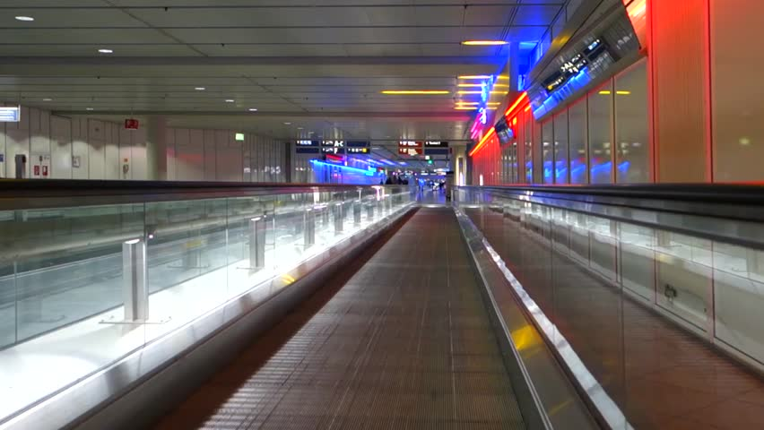 Moving walkway at Terminal 1, Munich Airport, Bavaria, Germany, Europe 28. September 2014 | Shutterstock HD Video #23926798