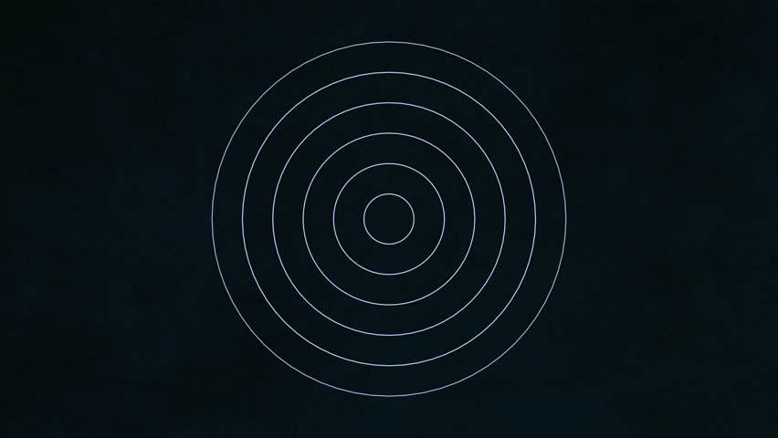 Background with concentric rings moving. Animation of radio wave, radar or sonar. Hypnotic graphic effect. | Shutterstock HD Video #23928238