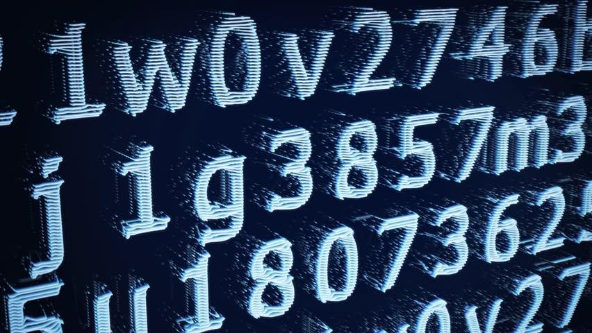 Light Blue Digital Line Numbers Hd Loop   Shutterstock HD Video #23929204