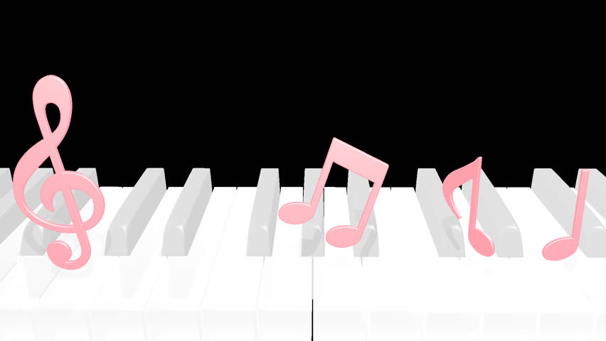 Piano note opening 2 pattern alpha channel; 2 shots | Shutterstock HD Video #23945155