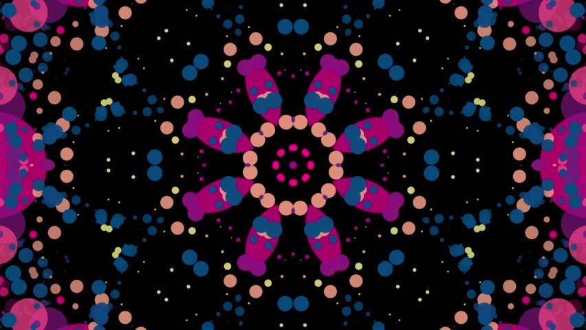 Psychodelic Dance of a Flower of a Kaleidoscope Loop