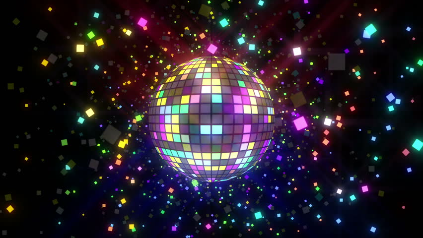 Neon Disco ball seamless VJ loop animation for music broadcast TV, night clubs, music videos, LED screens and projectors, glamour and fashion events, jazz, pops, funky and disco party. #23976034