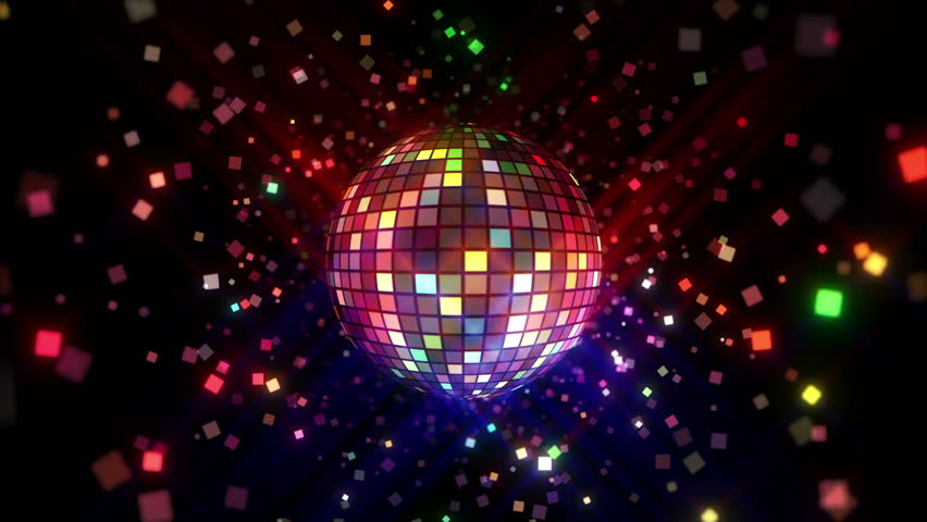 Neon Disco ball seamless VJ loop animation for music broadcast TV, night clubs, music videos, LED screens and projectors, glamour and fashion events, jazz, pops, funky and disco party. #23976046