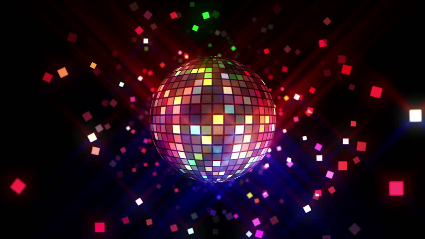 Neon Disco ball seamless VJ loop animation for music broadcast TV, night clubs, music videos, LED screens and projectors, glamour and fashion events, jazz, pops, funky and disco party. #23976052