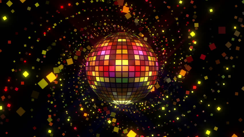 Neon Disco ball seamless VJ loop animation for music broadcast TV, night clubs, music videos, LED screens and projectors, glamour and fashion events, jazz, pops, funky and disco party. #23976061