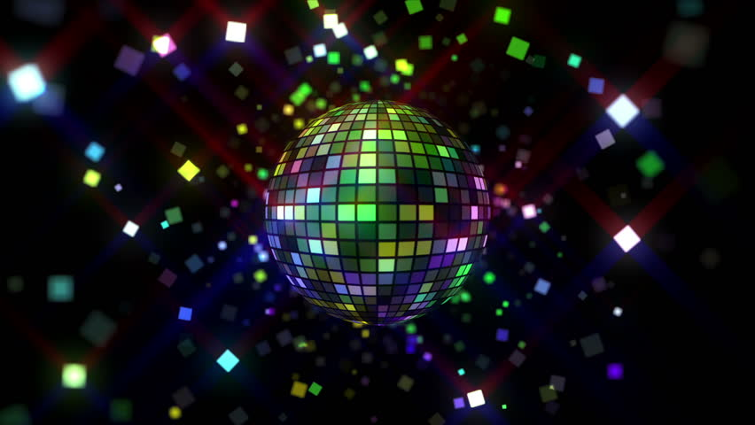 Neon Disco ball seamless VJ loop animation for music broadcast TV, night clubs, music videos, LED screens and projectors, glamour and fashion events, jazz, pops, funky and disco party. #23976067