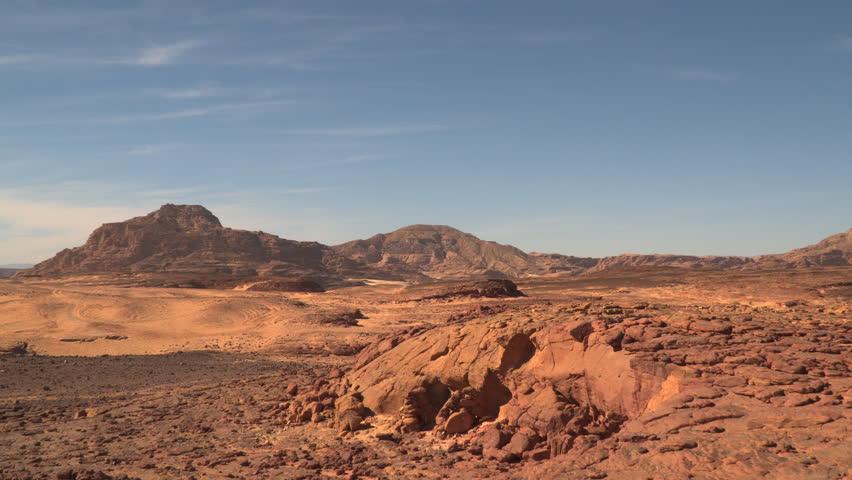 Desert mountain in the Sinai Peninsula. | Shutterstock HD Video #23993449