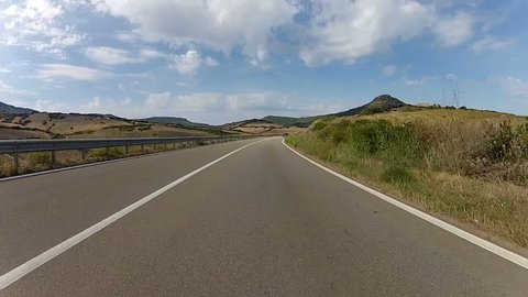 Scenic Drive through Sardinia, Italy