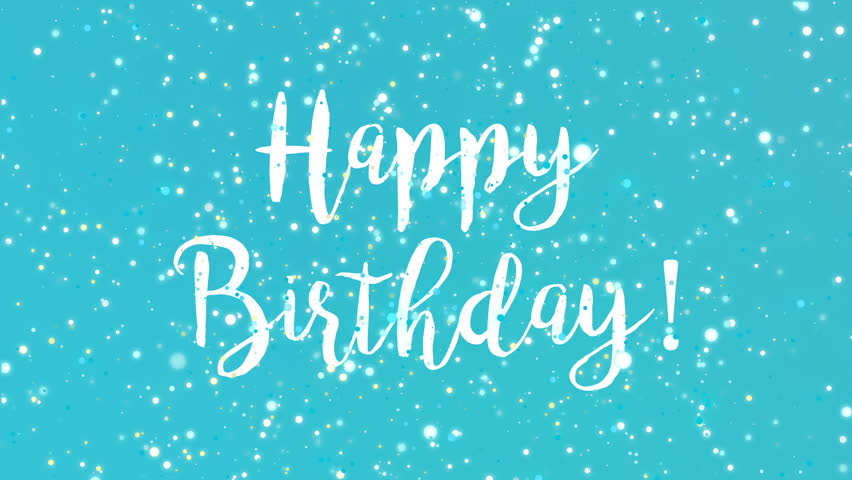 sparkly happy birthday greeting card stock footage video