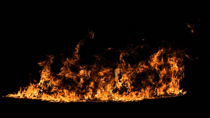 Fire line. HD, alpha. | Shutterstock HD Video #24017800