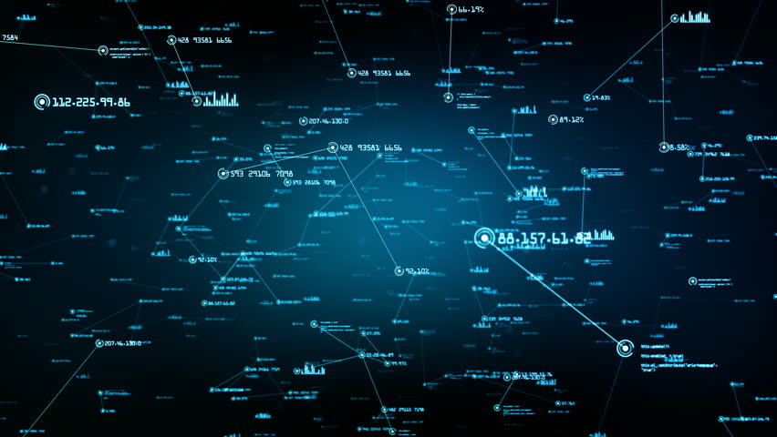 Global network connections. You can use it for a technology, communication or social media background. Available in multiple versions. Green-Blue color. Seamless loop. 4K | Shutterstock HD Video #24035884
