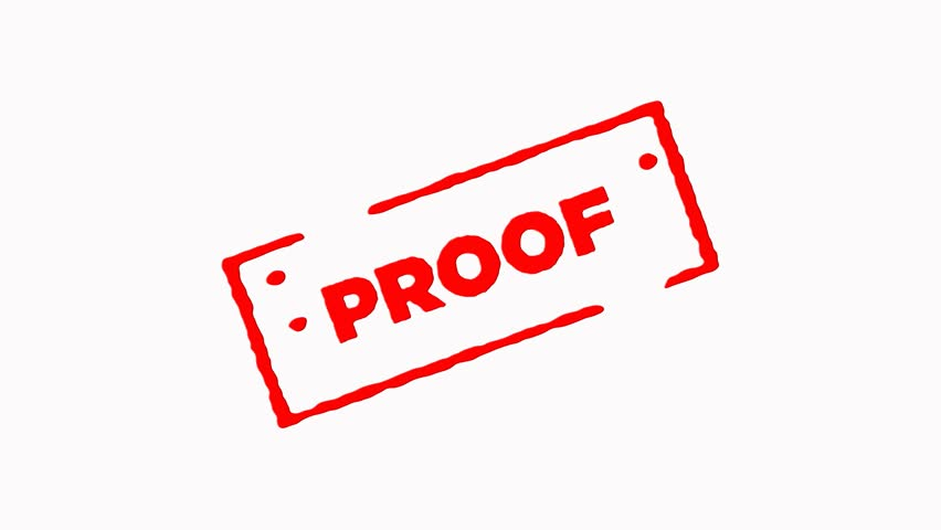 Proof signed with red ink stamp zoom in and zoom out on white background (4K)  | Shutterstock HD Video #24052804