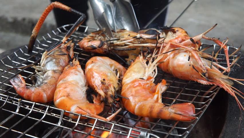 Shrimps grill   Shutterstock HD Video #24053737