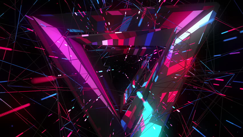 Flight into cosmic web structure seamless VJ loop for music videos, night clubs, audiovisual show and performance, LED screens and projection mapping
