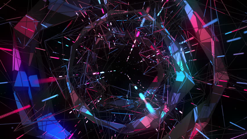 Flight into cosmic web structure seamless VJ loop for music videos, night clubs, audiovisual show and performance, LED screens and projection mapping Royalty-Free Stock Footage #24071278
