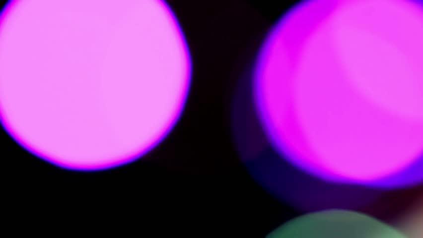 Disco lights out of focus. | Shutterstock HD Video #2407643