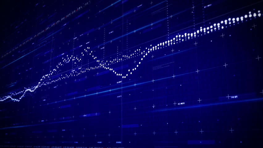 Digital HUD infographic. Business stock market charts and quotes. Digital waveform equalizers.Good news intro and business opener. Royalty-Free Stock Footage #24080488