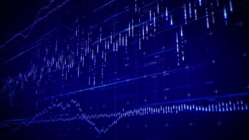 Digital HUD interface. Digital waveform equalizers.Business stock market charts and graphics.Good intro and business and marketing opener. Royalty-Free Stock Footage #24080500