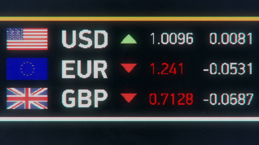 Euro, British pound falling compared to US dollar, Great Britain exits EU. European Union and Great Britain currencies plummet down after Brexit, financial crisis