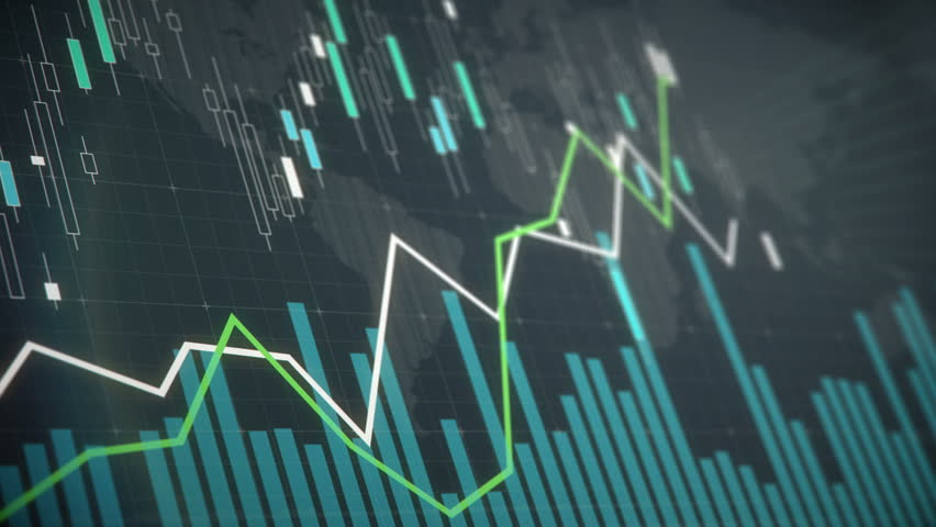 Stock market fluctuations graph on screen, indexes going up and down, statistics. Electronic chart with stock market fluctuations | Shutterstock HD Video #24125653