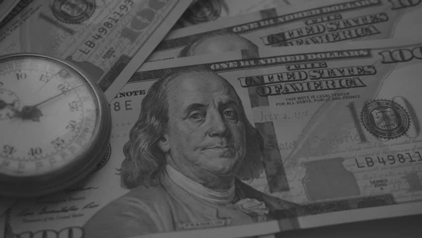 Time and Dollars. Close-Up Black & White Color | Shutterstock HD Video #24141334