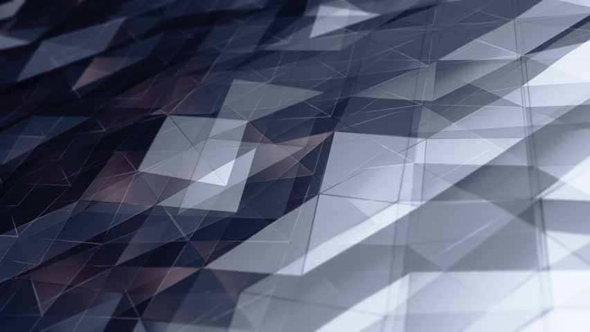 Abstract background with animation of waving smooth polygonal surface from glass, chrome or plastic. Good technological backdrop. Animation of seamless loop.   Shutterstock HD Video #24150589