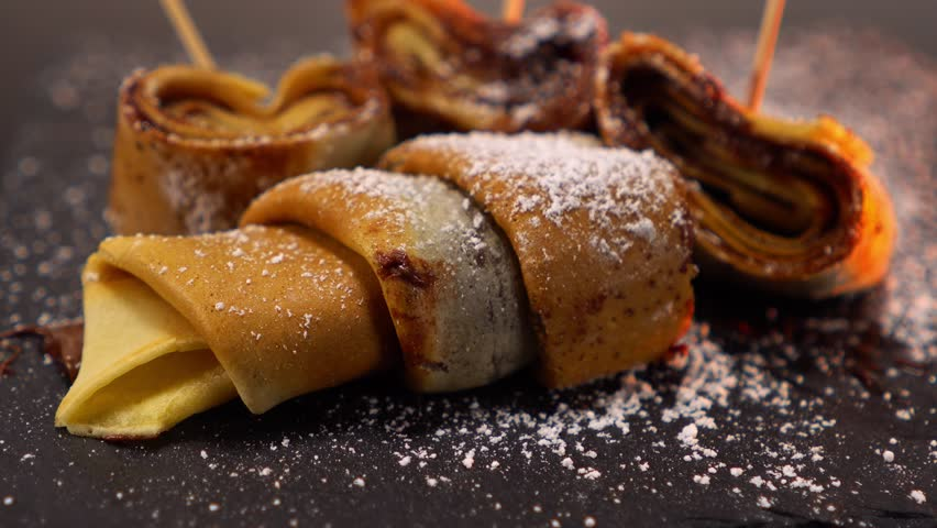 French Chocolate Crepes - a speciality from France - yummy dessert | Shutterstock HD Video #24200704