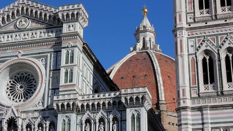 the dome of Brunelleschi in Santa Maria in bloom, the cathedral of Florence