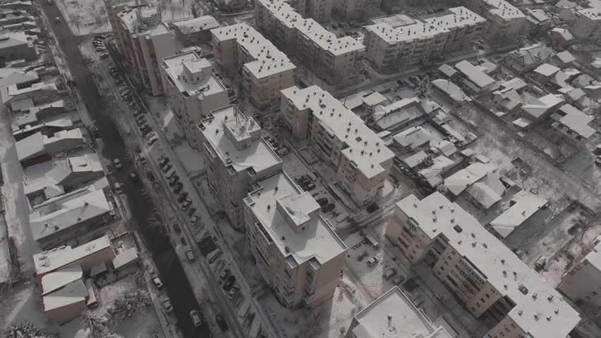 City covered in snow    Shutterstock HD Video #24259145