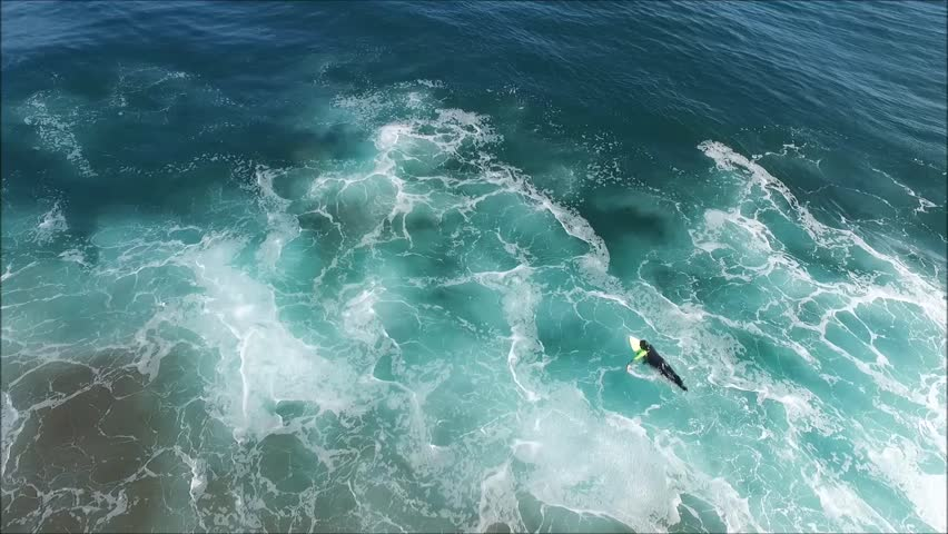 Aerial view of surfing beach in Chile | Shutterstock HD Video #24290330