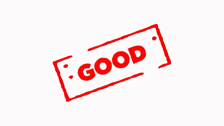 Good signed with red ink stamp zoom in and zoom out on white background (4K)  | Shutterstock HD Video #24305447