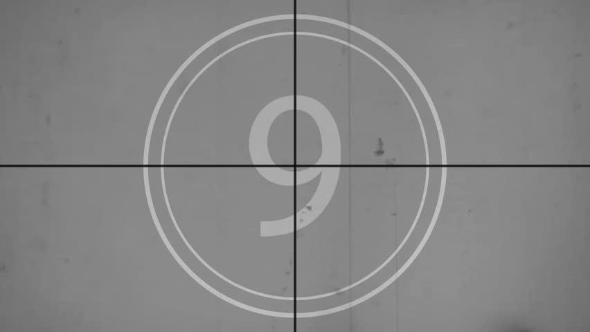 Countdown leader, numbers 9-0