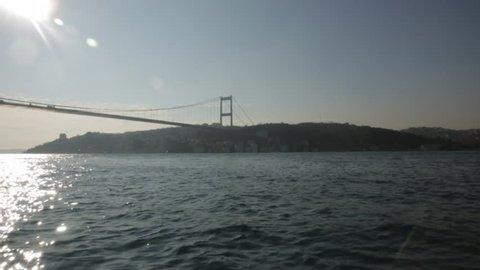 Sailing to bosporus bridge